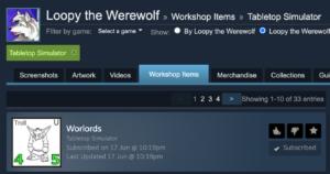 Worlords on Tabletop Simulator